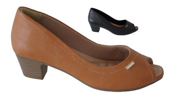 Peep Toe Feminino Comfortflex 1864301
