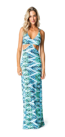 Saida De Praia Vestem Beachwear Sp69 G Azul