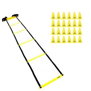 Escada Agilidade Funcional 8m Com Cone 18cm Liveup 24 Unid