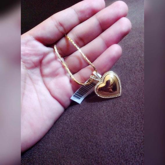 Colar Banhado Á Ouro 18k + Pingente De Coração ¿¿