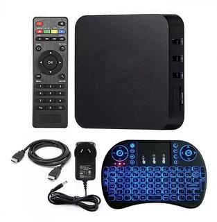 Smart Tv Box Android Tv Full Hd 4k Quad Core + Teclado Wifi