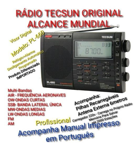 Rádio Original Tecsun Pl-660 - Fm,am,oc,om,ol,air,ssb,pll,sw