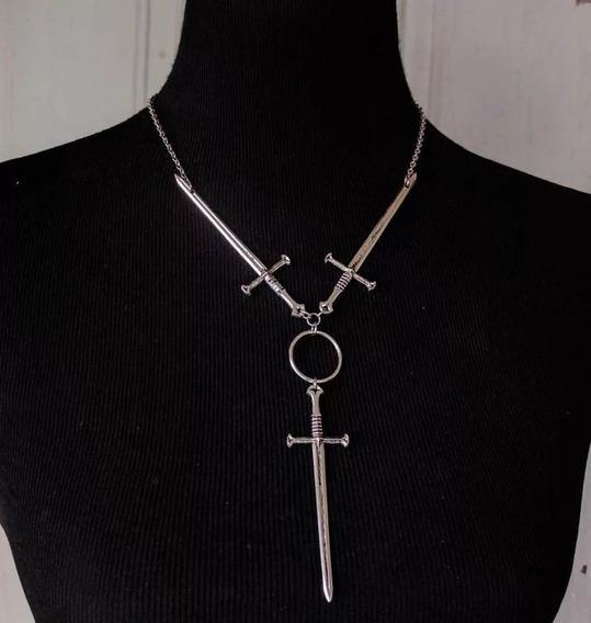 Collar Tres Espadas Ocultismo Tarot