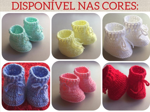 Sapatinho De Crochê Para Bebe Unissex Mod. C03