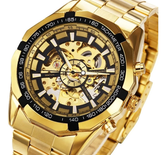Relógio Winner Forsining, Automático, Em Inox, Masculino.