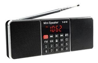 Lefon Multifunción Digital Fm Radio Media Altavoz Reproducto