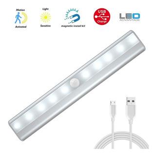 Luz De Clóset Con Sensor De Movimiento 10 Focos Led