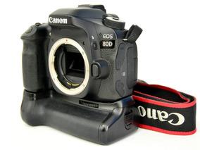 Câmera Canon 80d Corpo + Grip Meike 6 Mil Clikes