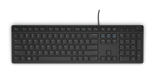 Teclado para pc QWERTY Dell KB216 inglés internacional negro