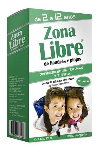 Zona Libre Para Liendres Y Piojos Crema Enjuague 200ml