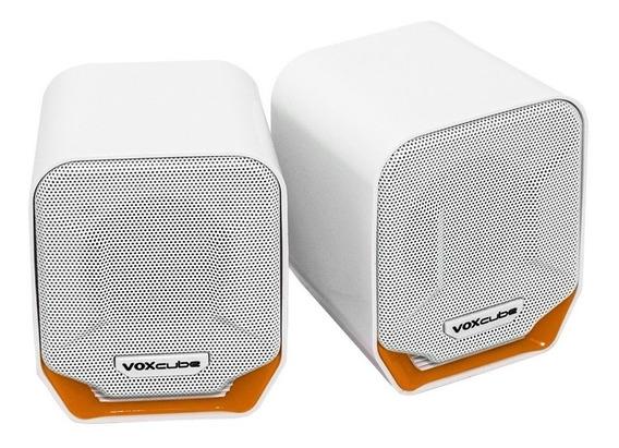 Caixa de som Voxcube VC-D360 portátil Branco/Laranja