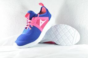 Tenis Para Correr De Mujer Pirma Running Azul Rosa 110