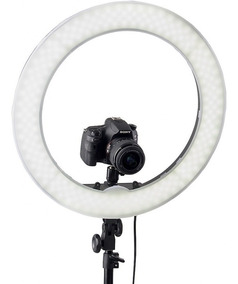 Iluminador Led Ring Light 18 Circular Foto Make C Tripé 2,10