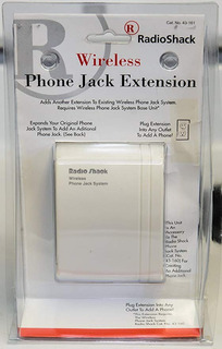 Radio Shack 43-161 Teléfono Inalámbrico Unidad Toma De Exten