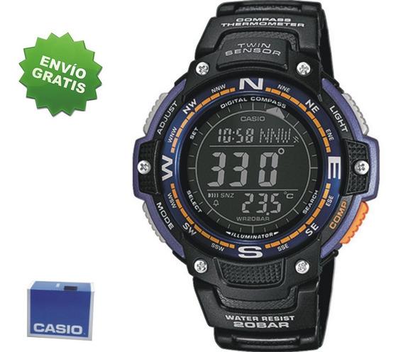 Reloj Casio Sgw100 Wr200 Brujula Thermometro Alarma M S I