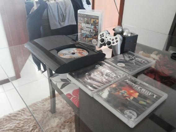 Playstation 3 Bloqueado Super Slim 250 Gb 4 Jogos