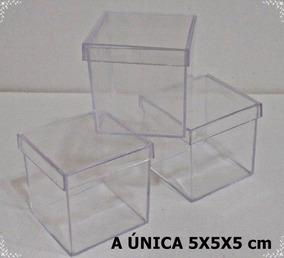 100 Caixinhas De Acrílico 5x5x5 Lembrancinha R$ 60,00