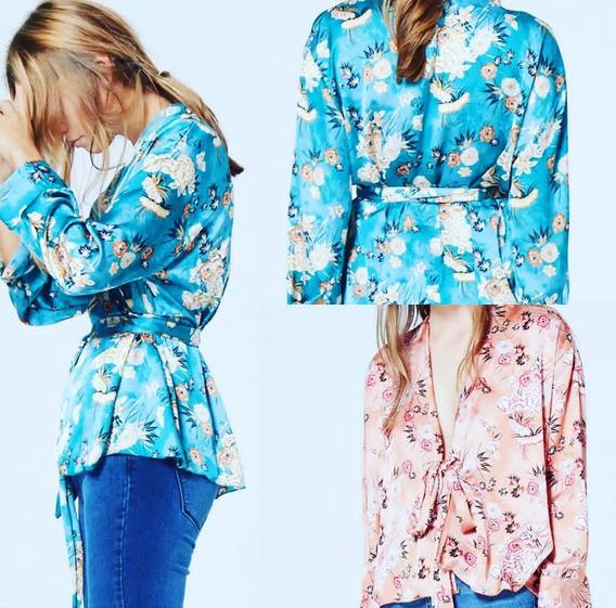 Camisa De Seda. Kimono.