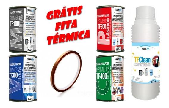 Transfer Laser Kit 4 Primers + Tfclean * Fita Térmica Grátis