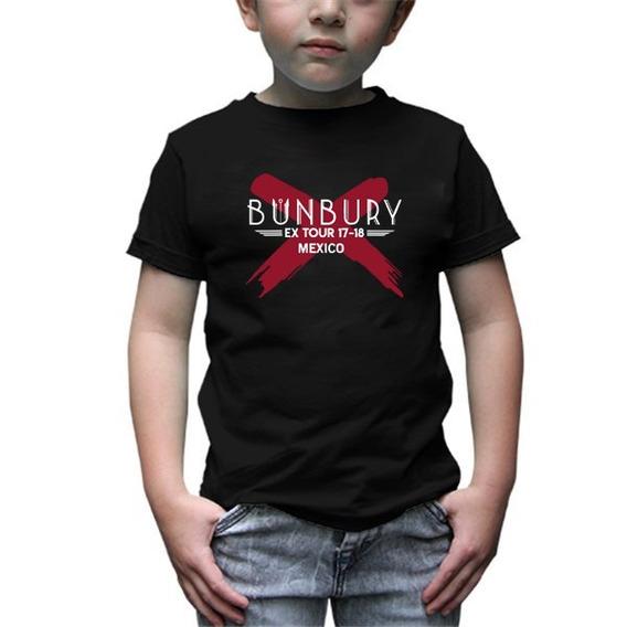 Bunbury Playera Infantil Rock Tour Mexico -envío Gratis