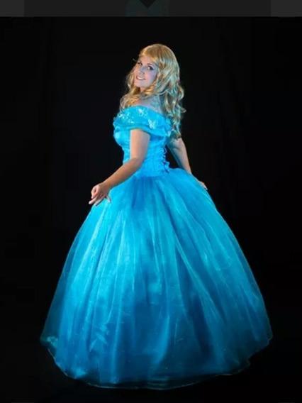 Cinderella Vestido Adulto Cosplay