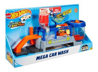 Pista De Autos Hot Wheels Mega Car Wash Autolavado