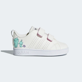 Tenis adidas Vs Adv Cl Cmf Inf De Niña Color Blanco 2651620