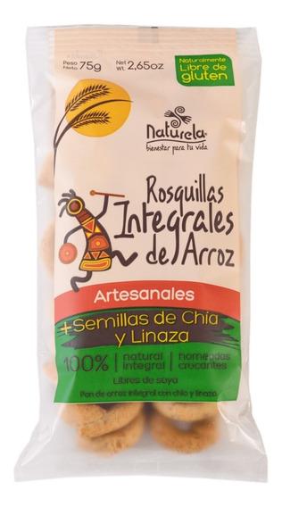 Rosquitas Integrales De Arroz, Chia Y Linaza 75 G