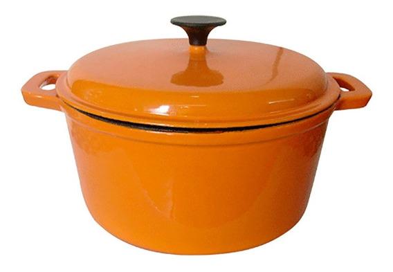 Olla Cacerola 16-27 Cm Hierro Fundido Naranja 9261