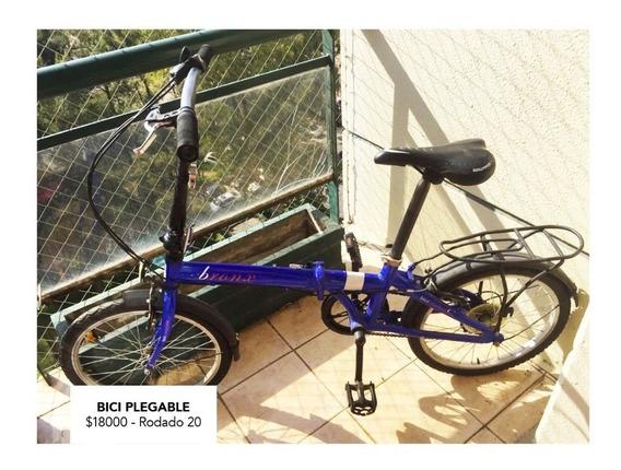 Bicicleta Plegable Rodado 20 Bronx