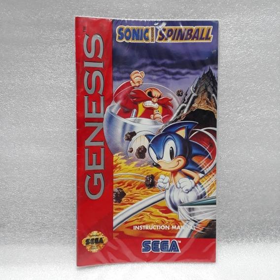 Manual Do Jogo Sonic Spinball Mega Drive Original Aproveite!