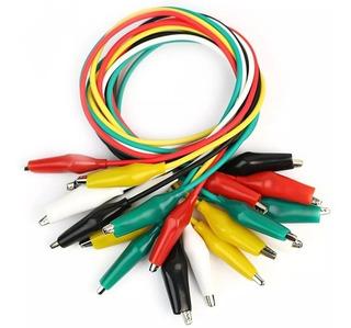 Kit X10 Unidades Cables Cocodrilos 30cm Arduino Electronica