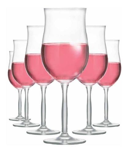 Imagem 1 de 3 de Kit Taça Vinho Ritzenhoff Bordeaux Rosé 430ml Jogo 6 Pcs