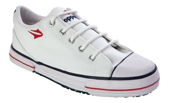 Zapatillas Topper Nova Low - Blancas Lona Reforzadas