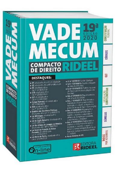 Vade Mecum Compacto Rideel 19 Edição (2020)