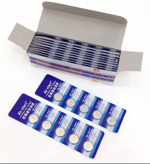 Kit C/100 Baterias Cr2032 3v Lithium Exelente Qualidade.
