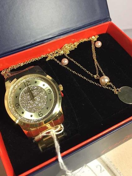 Relógio Feminino Condor Kit Jóia Co2039an/k4d Dourado
