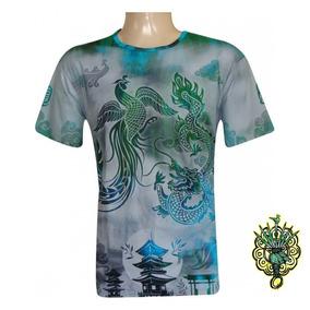 Camiseta Dragão Fênix 100% Viscose