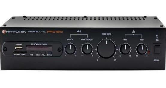 Amplificador Hayonik Versátil Pro610 70v/4r 100w