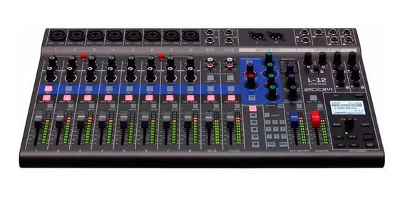 Mesa De Som Mixer E Gravador Digital Zoom L12 Livetrak Usb