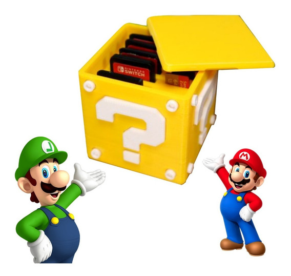 Caixa Super Mário Jogos Nintendo Switch Porta Jogos