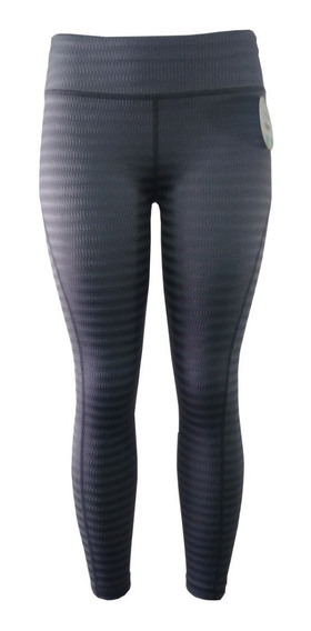 Licra Leggins Deportiva Dama Gym Colombiano Grueso Gris Dry-fit Sport Casual Lycra