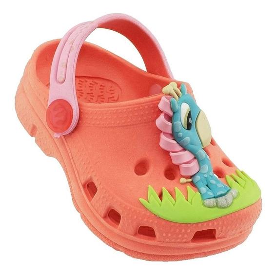Babuche Plugt Girafa Infantil - Coral/rosa