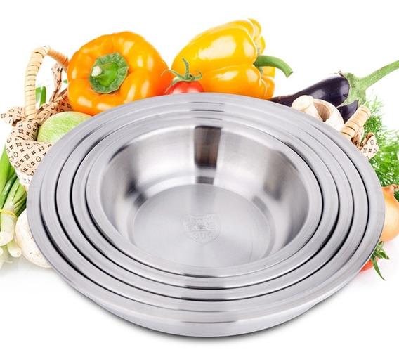 Inoxidável Aço Bolo Cozimento Massa Misturar Fruta Salada Fo