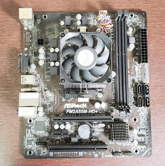 Kit Placa Mãe Asrock + Processador Amd A4 7300 3,8ghz