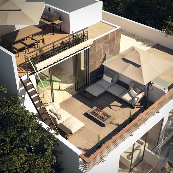 Departamento Con Rooftop Privado En La Narvarte - 145m2