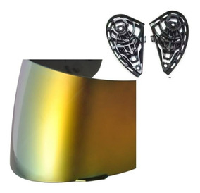 Viseira Com Reparo K3 K4 Viseira Cor Dourada 1704do - 1029p
