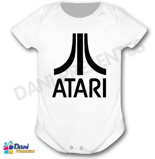 Body Atari Black - Retrô Game - 100% Algodão