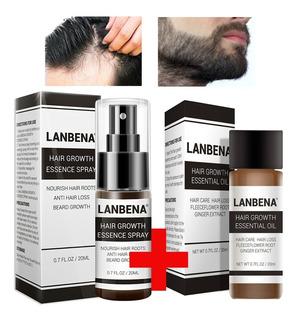Spray + Aceite Tratamiento Calvicie Perdida Cabello Lanbena