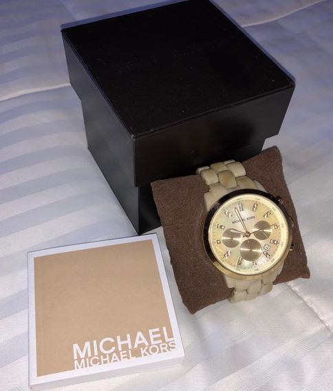 Relógio Michael Kors Tartaruga Usado Original Com Nf